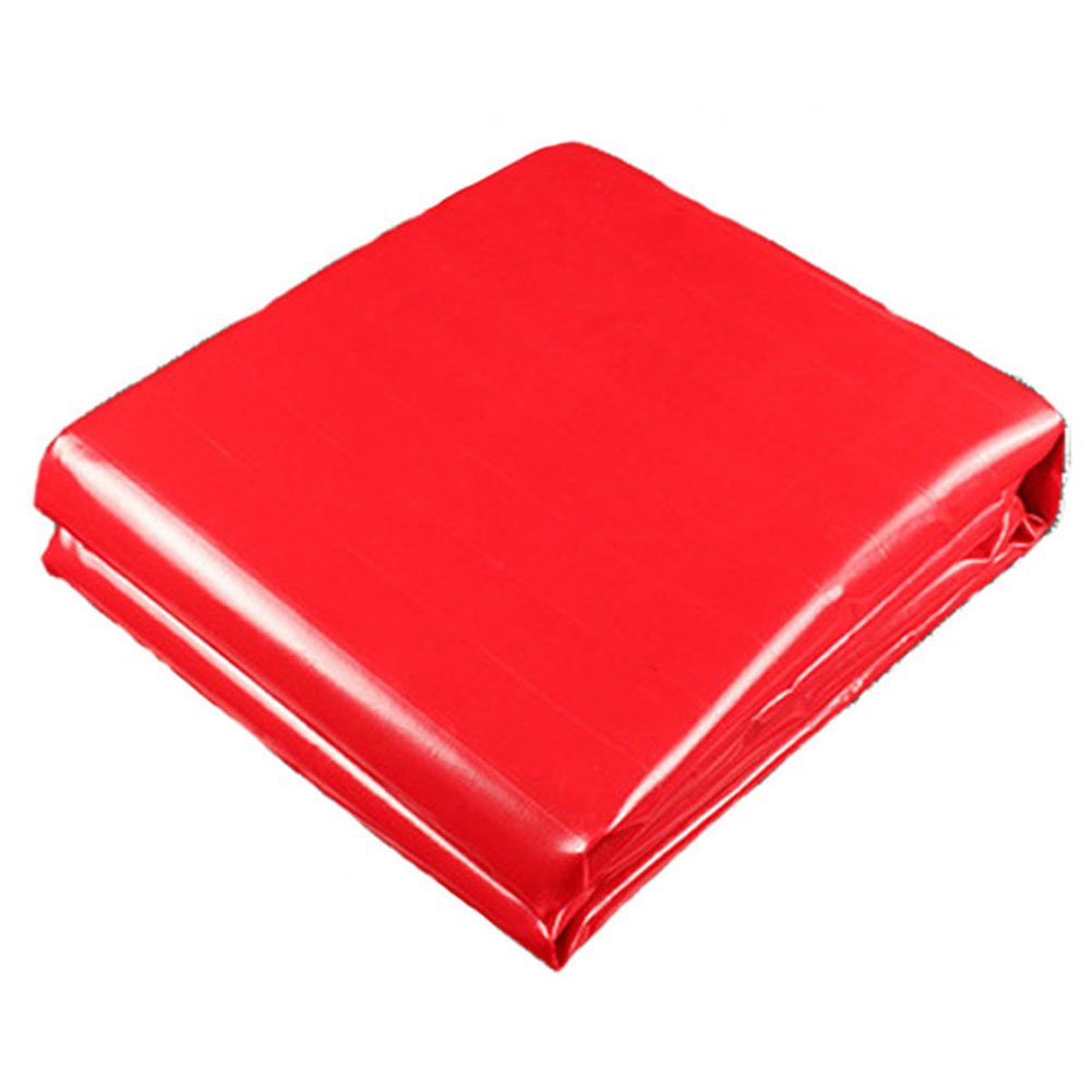 WUFENG オーニング 祝い 目覚め 防水 日焼け止め PVC ナイフスクレーピング リノリウム 目覚め フェスティバル ギャブ アウトドア 厚さ0.4mm 450g/M2 (色 : 赤, サイズ さいず : 5x6m) B07DDHVWTJ