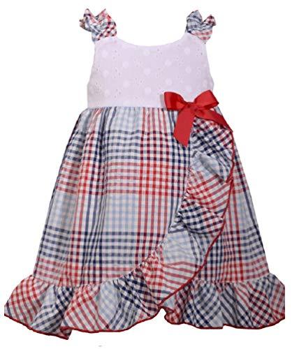 c 4th of July Eyelet Seersucker Dress (0m-24m) (24 Months) ()