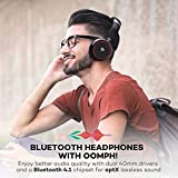 Wireless Headset with Microphone, TaoTronics Bluetooth Headphones On Ear Headsets with 25-Hour Playtime (Bluetooth Headset with Dual 40mm Drivers for aptX Stereo, Portable Design, 3.5mm Aux Support)