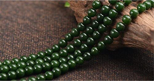 6mm Eggplant Jade-Style Glass Bead approx 77 beads