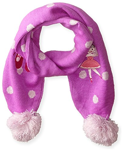 Kidorable Pink Ballerina Soft Acrylic Scarf for Girls With Fun Dancer and Polka Dots, 43x5.5 (Fun Scarf)