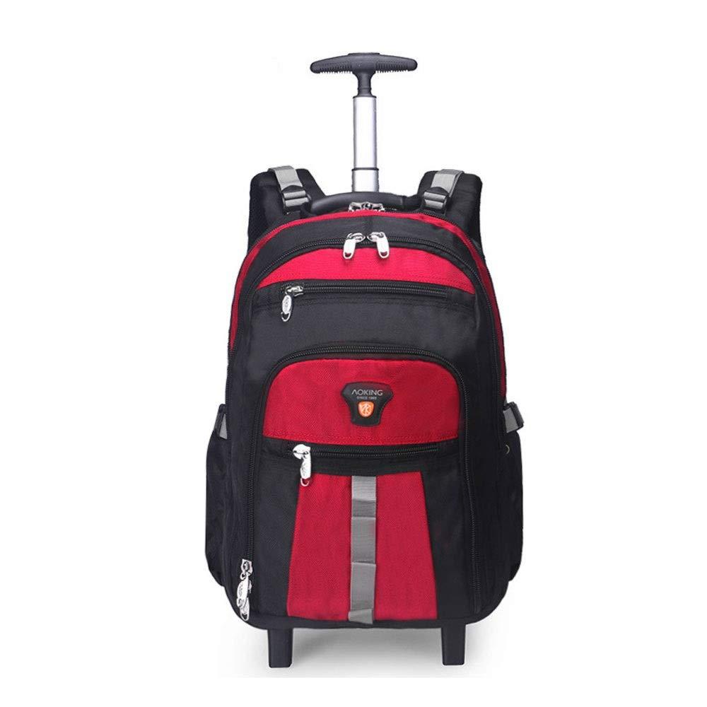 QARYYQ Reisetasche Rucksack Umhängetasche Männer und Frauen Schultasche Computer-Tasche Travel Business Boarding Trolley mit großer Kapazität Trolley Rucksack (Farbe   Orange, Größe   48x20x34cm) rot 48x20x34cm