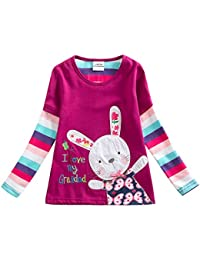 2017 Kid Girl Cotton Butterfly Lace Long Sleeve T Shirt...