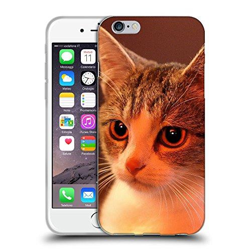"Just Phone Cases Coque de Protection TPU Silicone Case pour // V00004222 Charmante maison chaton // Apple iPhone 6 4.7"""