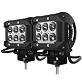 LightPlus CREE LED Lights (2 Pack) - 18W 1800LM Spotlight Bar Great for Off-Road Jeeps, SUVs, Boats and More - 6000K White Light Color Temperature, Waterproof