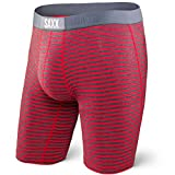 SAXX Underwear Co. Saxx Vibe Long Leg Modern Fit Red Hiker Stripe L