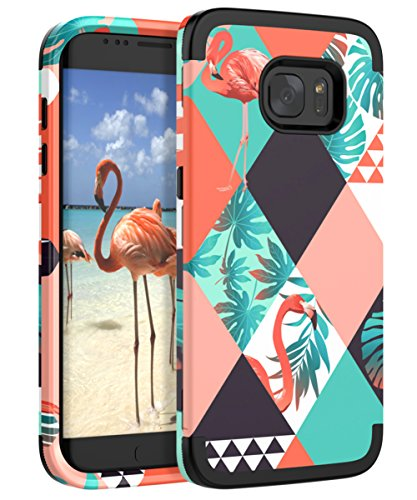 XIQI Galaxy S6 Edge Case Three Layer Heavy Duty Shockproof Cute Girls Woman Anti-Scratch Protective Case