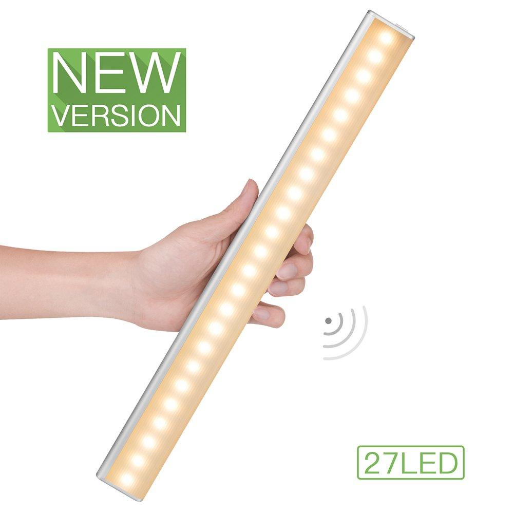 EBeeT 27 LED充電式モーションセンサーライトバー MSL01 B072XLGTG3 12258  27 Led Motion Sensor Light Warm Color