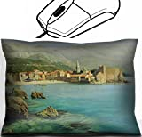 MSD Mouse Wrist Rest Office Decor Wrist Supporter Pillow design 15339689 l Bay near old Budva on the Montenego Riviera painted on canvas by me Kiril Stanchev