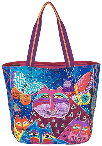 Laurel Burch Cats with Butterflies Tote (Multi)