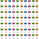 TKOnline Smiling Binder Clips ,19mm ,Assorted Colors ,72 Clips