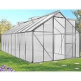 ProBache - Serre de jardin aluminium polycarbonate 12.25m² 4.90x2.50x1.90m