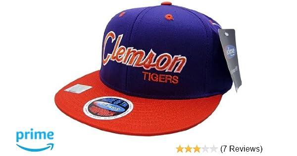 10ee9700faba7 Amazon.com   NCAA Clemson Tigers Script Style Snapback Hat