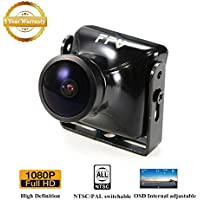 FPV Camera JJA-960H 1080P HD Cam 2.5mm Lens 120 Degree with OSD NTSC PAL for Multicopter Quadcopter by Crazepony