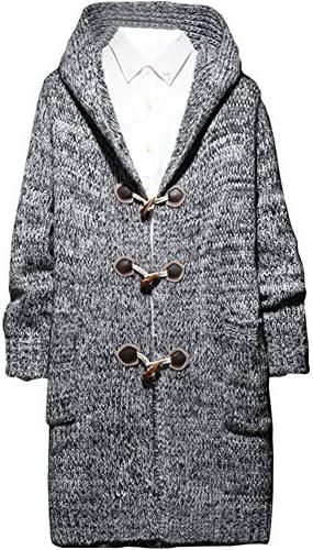 メンズ カーディガン ニット セーター フード コート ジャケット ロング丈 大きいサイズ M~5XL カジュアル 春