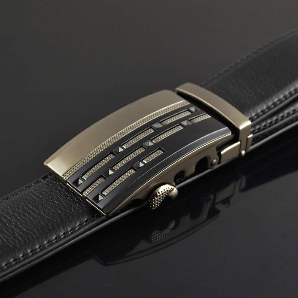DENGDAI Automatic Buckle Belt Alloy Buckle Belt Mens Belt Length 110-130cm