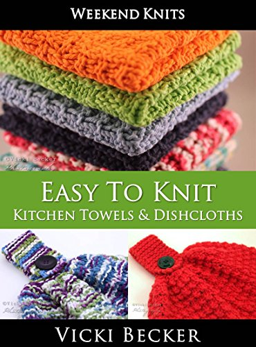 Amazon Easy To Knit Kitchen Towels And Dishcloths Weekend