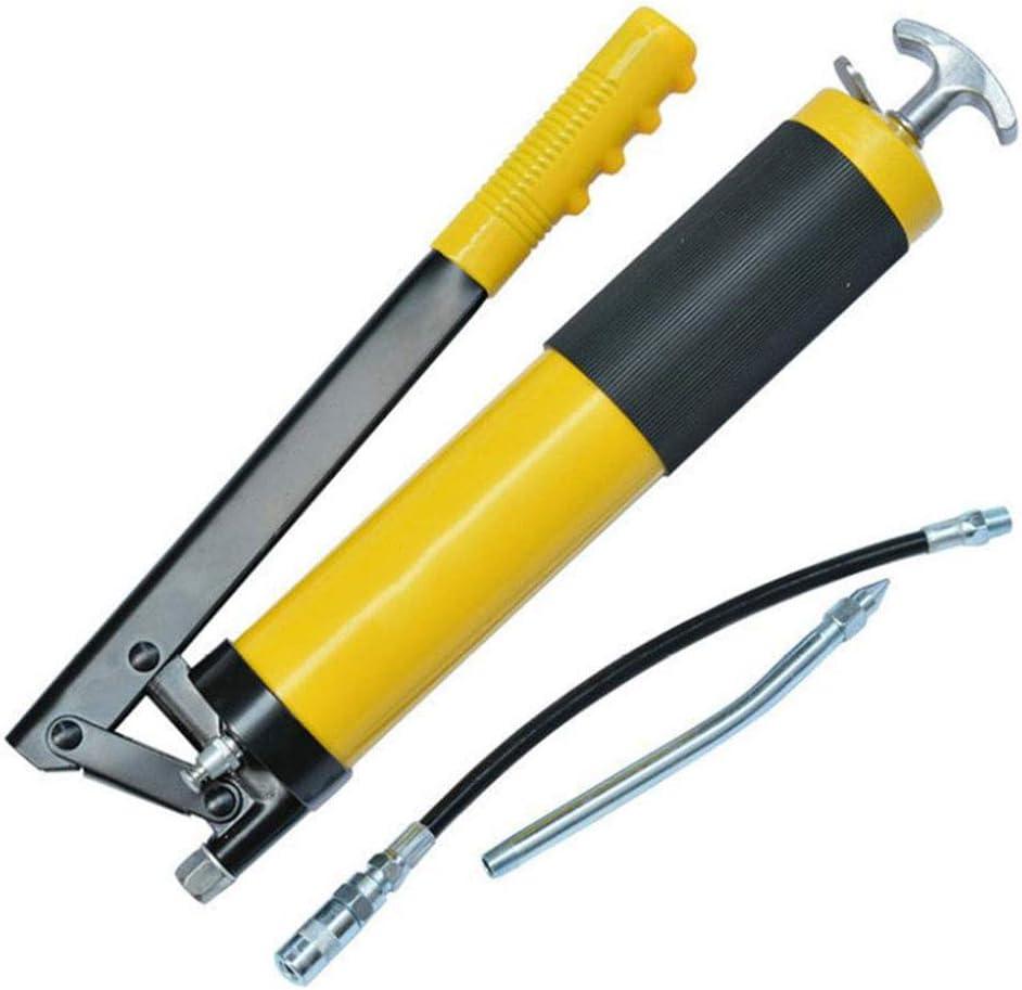 LXB Pistola engrasadora Manual, Hecha de Acero y PU, pistón práctico Desmontable de Alta presión de Bomba Individual de Alta Resistencia para automóviles, Camiones, Barcos.