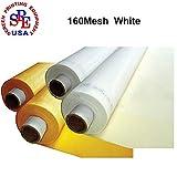 ETPUVIUMBE 3 Yards 160 Mesh 50''(1.27m) Width Silk Screen Printing 3 Yards 160 mesh(64T)