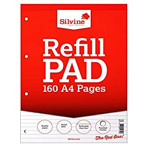 Silvine A4 160 Page Refill Pad (Pack of 6) (UK Size: One Size) (White)