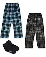 Mad Dog Boy's 2-Pack Pajama Pants + Slipper...