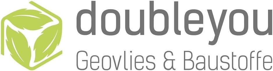 20m Doubleyou Geovlies /& Baustoffe Drainagerohr DN 50 Gelocht Drainage