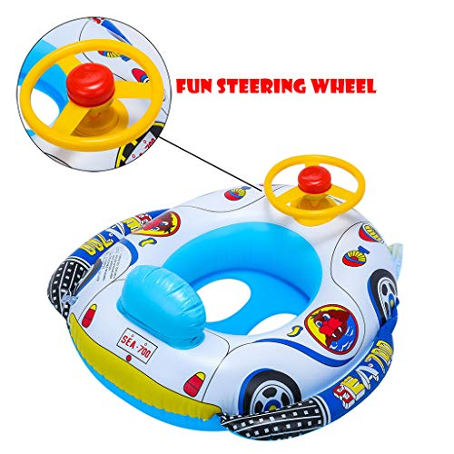 Swim Ring, Swimming Ring Inflatable Baby Float Small Suitable Age for 1 Months- 3 Years Old by Little Story