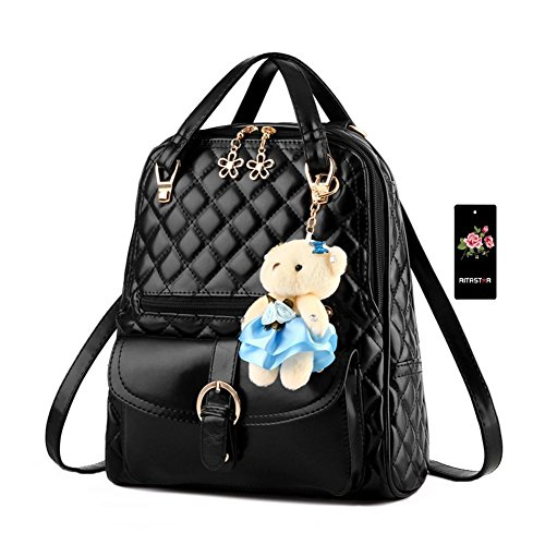 Imymax Plaid Faux Leather Cute Backpack Shoulder Bag - Backpack Purses For Teens
