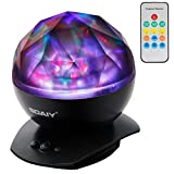 [Upgraded Version] SOAIY Color Changing LED Night Light Lamp with Remote Timer Dimmer, Baby Nursery Kids Night Light,Aurora Star Projection Light,Decorative Light,Mood Light (Power Plug/AC Adapter Not Included)