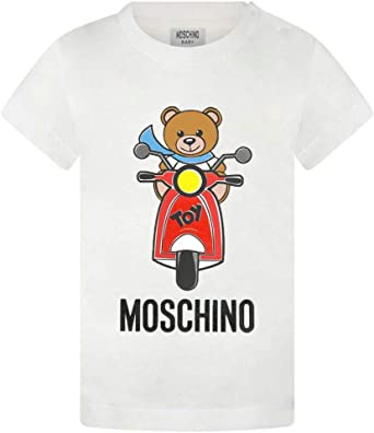 Moschino Camiseta para bebé algodón, 3/6 Meses, Crema: Amazon.es ...