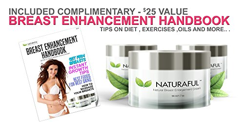 NATURAFUL - (3 JAR) TOP RATED Breast Enhancement Cream - Natural Breast Enlargement, Firming and Lifting Cream | Trusted by Over 100,000 Users & Includes Handbook | $232 Value Bundle by Naturaful (Image #4)