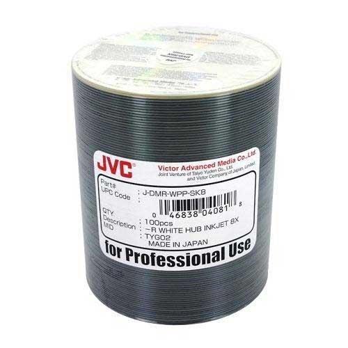 200 JVC Taiyo Yuden 8X DVD-R 4.7GB White Thermal Hub Printable by Taiyo Yuden