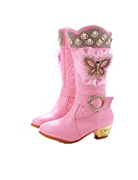Jedi fight back Fathions Girls Princess Winter Boots Long Kids Snow Boots Soft Warm Children Shoes with Plush