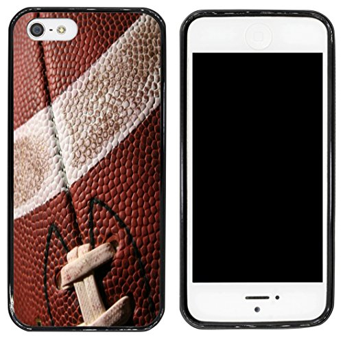 Rikki Knight Cell Phone Case for Apple iPhone 5/5s - Black - American Football Close-Up (Football Black Knights)
