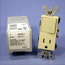 wiring a switch outlet combo circuit leviton 5625 isp 15 amp 120 volt decora combination switch receptacle ivory