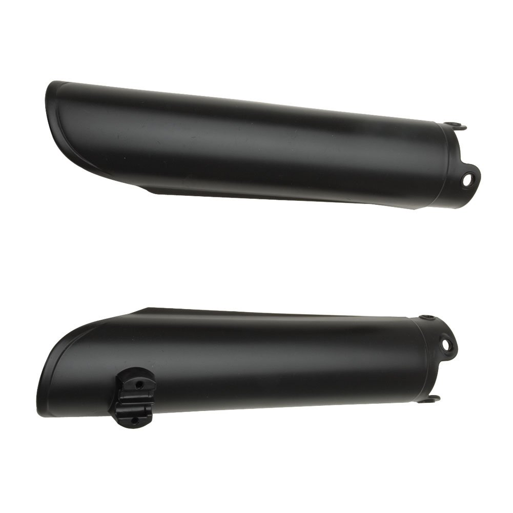 Acerbis Lower Fork Cover Set Black - Fits: KTM 525 EXC 4-Stroke 2003-2007