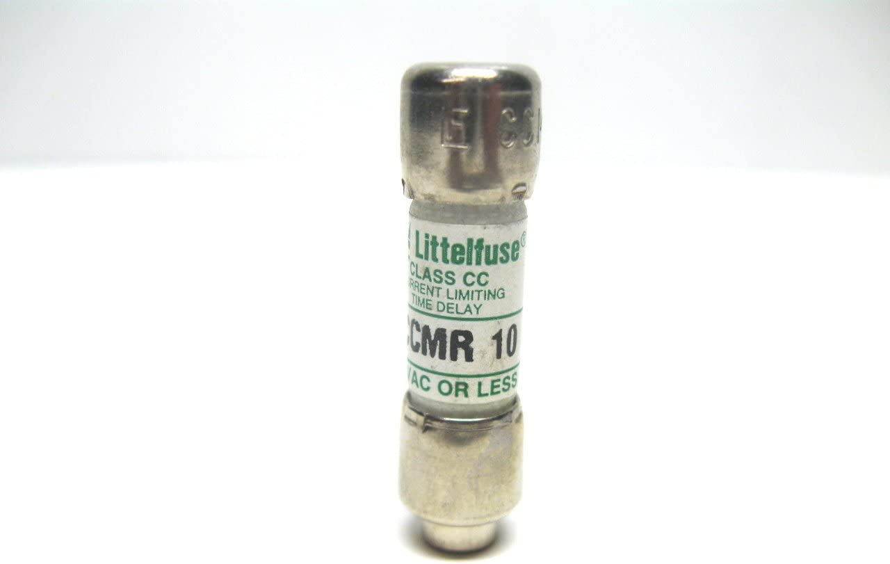 Current Limiting Class CC Rejection Cartridge Fuses Littelfuse CCMR-10 or CCMR010 10 Amp Time Delay 600V Midget 10A