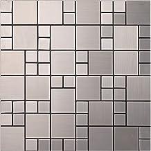Shiny 5 facets diamond glass mix metal self-stick mosaic tiles for wall, Aluminium Plastic Panel Self Adhesive mosaic tiles sticker, 12x12/sheet, LSL02 (22 pieces | 22sq.ft/2 sqm, L02)