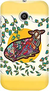 DailyObjects Colorful Tribal Deer Case For Motorola Moto E