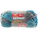Bernat Softee Chunky Solid Yarn, 3.5 Ounce, Deep Waters, Single Ball