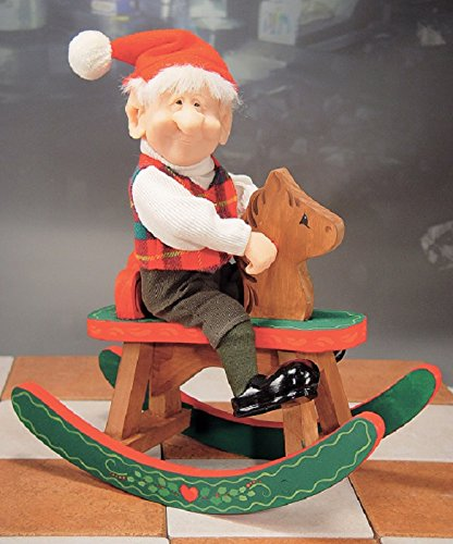 Whitehurst The Company Zim's The Elves Themselves Malcolm with Rocking Horse Figurine ()