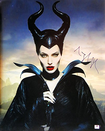Angelina Jolie Signed Autographed 16X20 Photo Maleficent Full Make-Up GV816049
