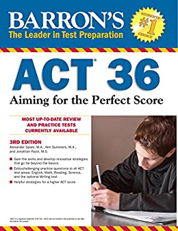 amazon com barron s act 36 aiming for the perfect score 3rd
