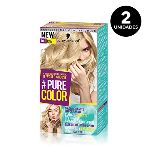 🥇 Pure Color de Schwarzkopf Tono 10.0 Angel Blond – 2 uds – Coloración Permamente
