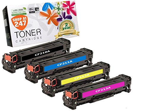 SHOP AT 247 Compatible Toner Cartridge Replacement for HP 131A ( Black,Cyan,Magenta,Yellow , 4-Pack )