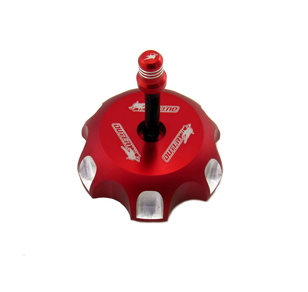 Outlaw Racing 12080 Billet Anodized Gas Fuel Tank Cap With Vent Hose Red CR125/250R Outlaw Racing Products