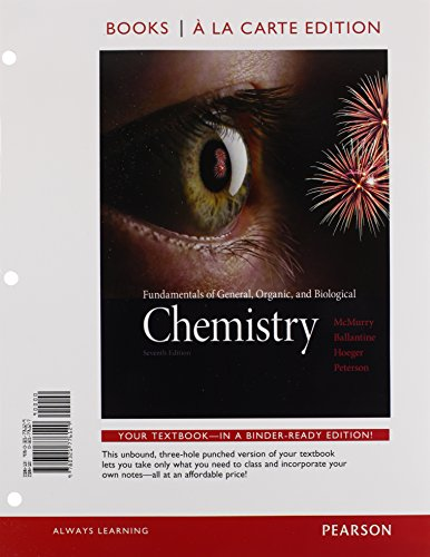 Fundamentals of General, Organic, and Biological Chemistry, Books a la Carte Edition and Modified MasteringChemistry with Pearson eText & ValuePack Access Card (7th Edition)