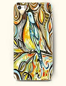 OOFIT Apple iPhone 5 5S Case Paisley Pattern ( Blue and Yellow Cute Bird )