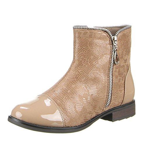 Ital-Design - Botas de Material Sintético para mujer Marrón - marrón claro