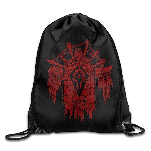 World Of Warcraft Horde Crest Sport Backpack Drawstring Print Bag - Horde Crest T-shirt